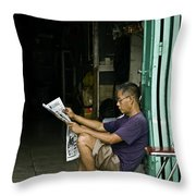 What's The News Throw Pillow