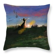 What's The Story Morning Glory Throw Pillow