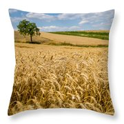 Wheat And A Tree Throw Pillow