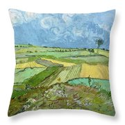Wheat Fields After The Rain, The Plain Of Auvers Throw Pillow