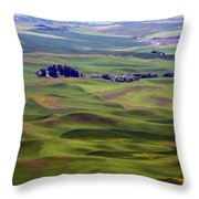 Wheat Fields Of The Palouse - Eastern Washington State Throw Pillow