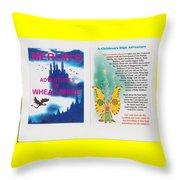 Wheat-shire Theme Park Throw Pillow