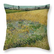 Wheatfield Arles, June 1888 Vincent Van Gogh 1853 - 1890 Throw Pillow