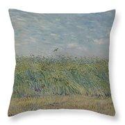 Wheatfield With Partridge Paris, June - July 1887 Vincent Van Gogh 1853 - 1890 Throw Pillow