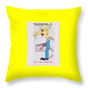 Wheatshire Mr Finiky Twist Nit Throw Pillow