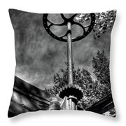 Wheel And Gear Throw Pillow