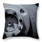 Wheel Bolts In Metal Throw Pillow