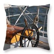 Sailingship Wheel Throw Pillow
