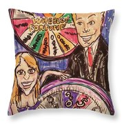 Wheel Of Fortune Pat Sajak And Vanna White Throw Pillow