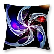 Wheel Of Light And Motion Throw Pillow