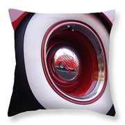 Wheel Reflection Throw Pillow