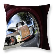 Wheel Reflections Throw Pillow