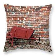 Wheelbarrow Throw Pillow