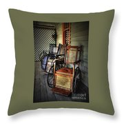 Wheelchairs Of Yesteryear By Kaye Menner Throw Pillow