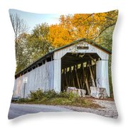 Wheeling Covered Bridge Throw Pillow