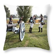 Wheeling The Cannon At Fort Mchenry In Baltimore Maryland Throw Pillow