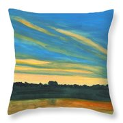 Wheeling Waterfront Throw Pillow
