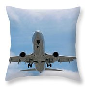 Wheels And Flaps Down Throw Pillow