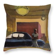 Wheels In The City Throw Pillow
