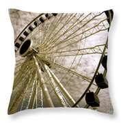 Wheels In The Wind Throw Pillow