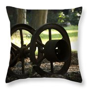 Wheels Of War-spanish American War Artifacts Throw Pillow