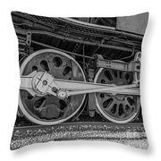 Wheels On A Locomotive Throw Pillow