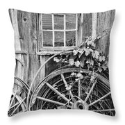 Wheels Wheels And More Wheels Throw Pillow by Crystal Nederman