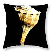 Whelk Sea Shell Throw Pillow