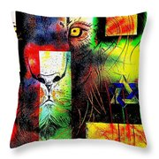 Whelp Of Judah- Revisited Throw Pillow