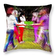 When Alternate Realities Collide Throw Pillow