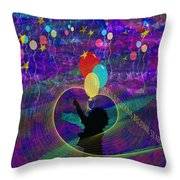 When Balloons Become Stars Throw Pillow by Sydne Archambault