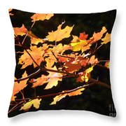 When Colors Think Outloud Throw Pillow
