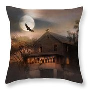 When Dead Leaves Fly Throw Pillow