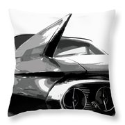 When Fins Were Fashionable Throw Pillow