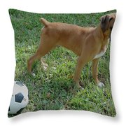 When I Was Just A Pup Throw Pillow