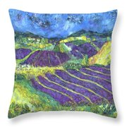 When Lavand Blooms Throw Pillow