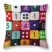 When Life Gets Dicey Throw Pillow