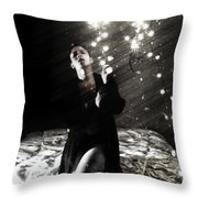 When Lights Dangle From Your Ceiling Fan Throw Pillow