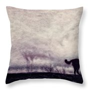 When Night Closes In Throw Pillow