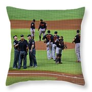 When No One Can Decide What To Call A High Fly Ball Throw Pillow