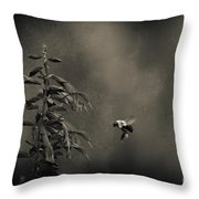 When Once A Bee Flew Throw Pillow