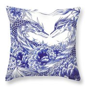 When Our Eyes Meet Throw Pillow