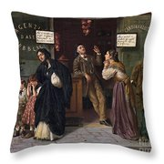 When Pawnbrokers Or Closed Bank Throw Pillow