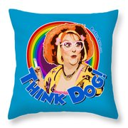 Think Dog Throw Pillow