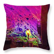 When Sun Sets Throw Pillow