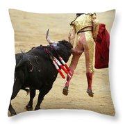 When The Bull Gores The Matador I Throw Pillow