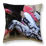 When The Bull Gores The Matador IIi Throw Pillow