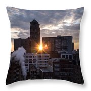 When The City Sleeps Throw Pillow