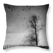 When The Darkness Gets Out Throw Pillow