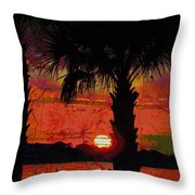 When The Day Ends Time Is Exhausted Throw Pillow